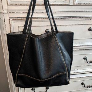Botkier large leather black tote bag purse EUC